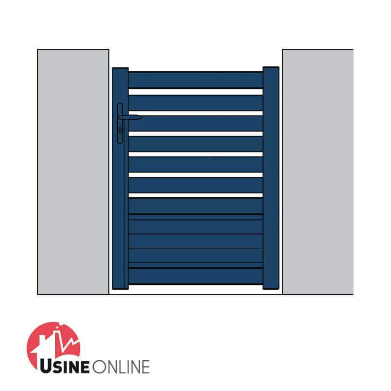 N 1 vente en ligne portillon alu h l ne sur mesure direct for Portillon en pvc pas cher