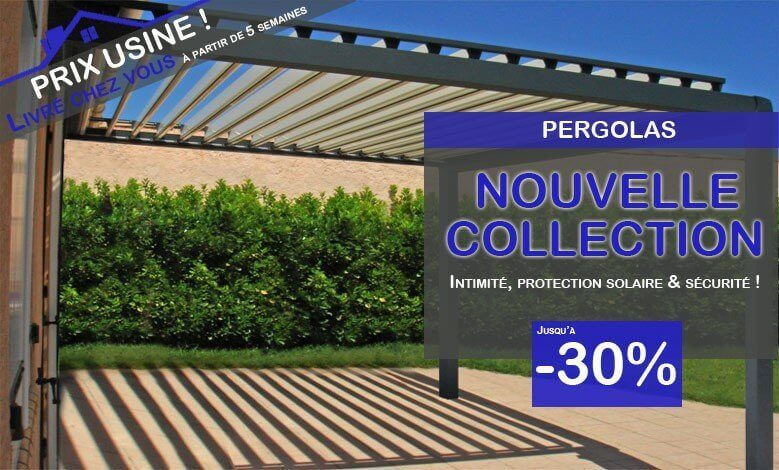Fen tres pvc alu direct usine pergola bioclimatique devis for Pergola bioclimatique prix au m