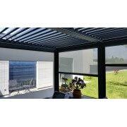 2 Rideaux façade pour pergola aluminium