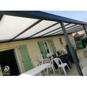 Pergola toit opaque 9x3