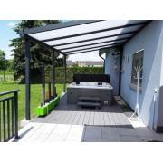Pergola 7016 8x4 toit polycarbonate opaque