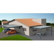 Pergola adossée toit plat 5x4