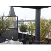 Pergola aluminium toit plat paris