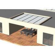 pergola toit plat polycarbonate entre 4 murs