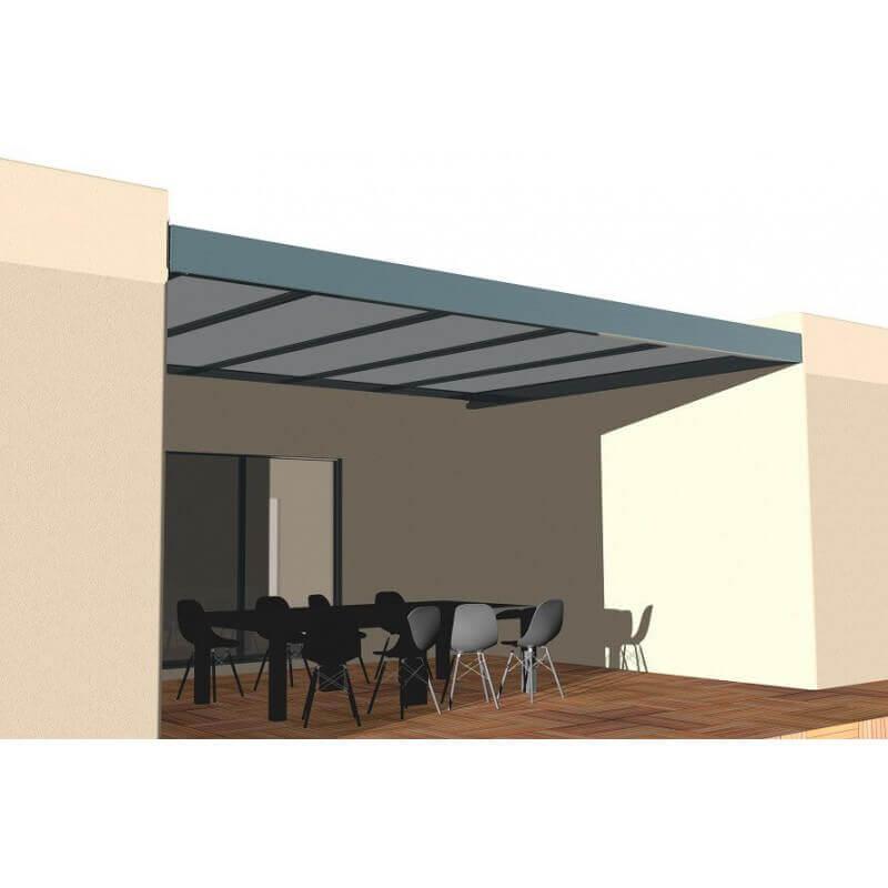 pergola aluminium entre 3 murs