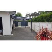 Carport 7x4 alu adossé toit polycarbonate