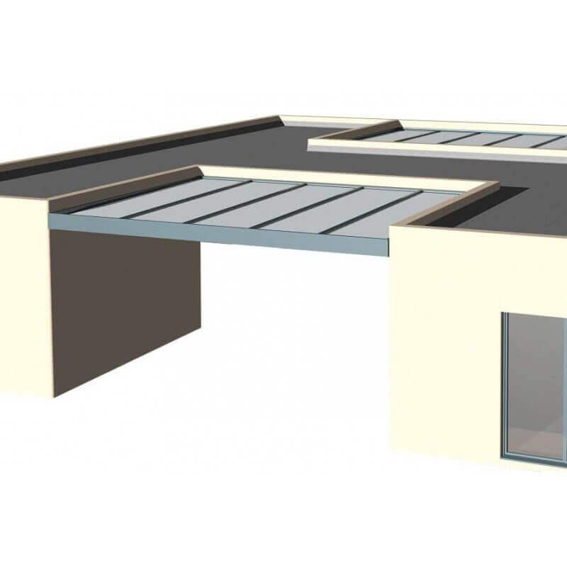 Carport aluminium entre 3 murs