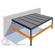 Carport aluminium toit plat 6x5