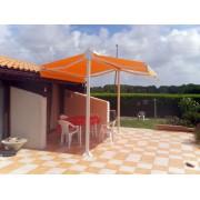 Store double pente solaire orange