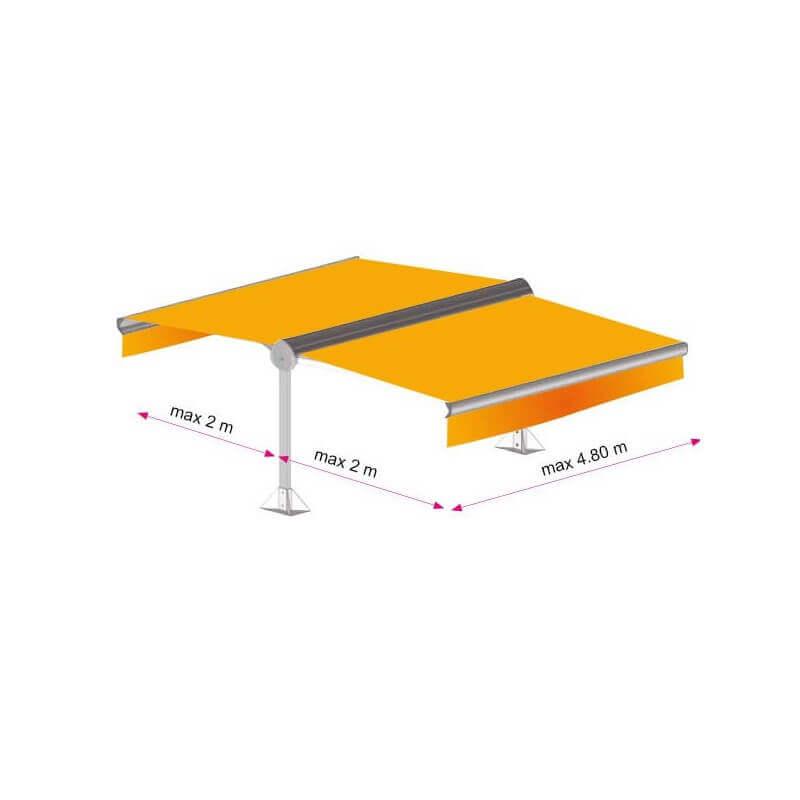 Store double pente solaire 4.8x4m