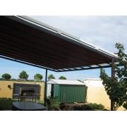 Store toiture pergola fait maison