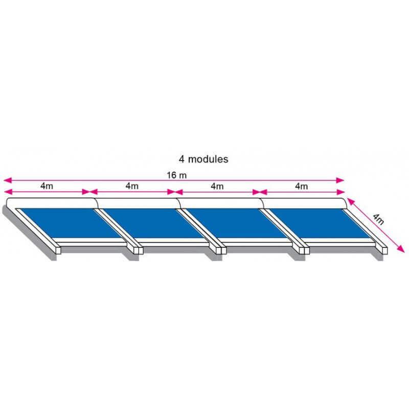 Store toiture pergola 16x4