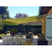 Store banne led toile rayée dickson