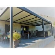 Pergola aluminium 9x4 adossée toit plat thermotop