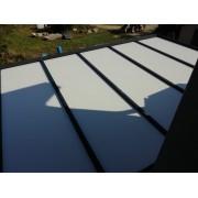 Panneau thermotop carport toit plat adossé