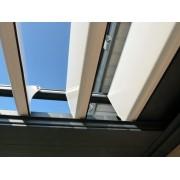 Lames en aluminium extrudé pergola bioclimatique manuelle