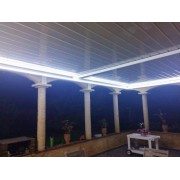 Pergola bioclimatique manuelle kit led sur 2 modules