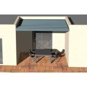 Pergola bioclimatique moteurs verin 4x3 entre 3 murs