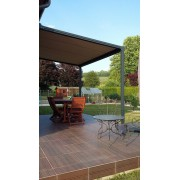 Pergola toile enroulable pente au maximum