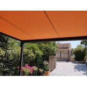 Pergola toile enroulable orange