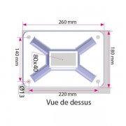 Dimensions platines aluminium pergola toile rétractable