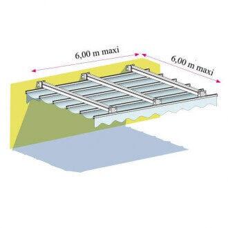 Pergola Toile Rétractable 06 TP2 Micro-Perforée Velum DIKCSON SUNWORKER Entre Murs Manuelle Sur Mesure