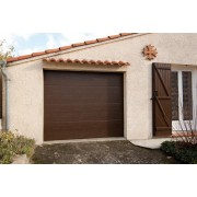 Porte de garage sectionnelle 2.4x2 marron
