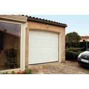 Porte de garage sectionnelle 2.4x2 blanche