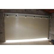 Coffre 300x300 mm ouvert porte de garage enroulable beige