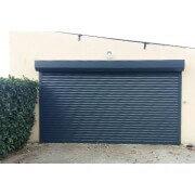 Porte de garage enroulable SOMFY 3x2 gris anthracite 7016 pose en applique extérieure
