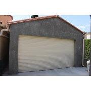 Porte de garage enroulable SOMFY 3x2 beige