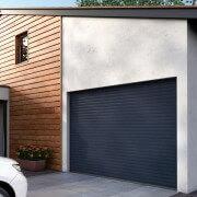 Porte de garage enroulable SOMFY gris anthracite 7016 3.5x2