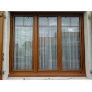 Fenêtre PVC 3 vantaux chêne doré