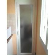 Porte fenêtre PVC vitrage opaque granité 1 vantail