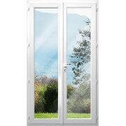 Porte fenêtre pvc 2 vantaux sans soubassement