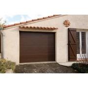 Porte de garage sectionnelle 2.4x2 marron