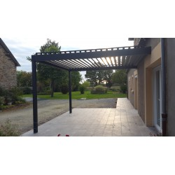 Pergola Bioclimatique Gris 7016  L 4000mm x A 4090mm