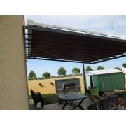 Store de toit pergola métal acier
