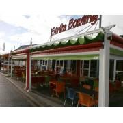 Pergola toile rétractable 6x6 restaurant