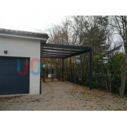 Carport adossé toit plat 6x5