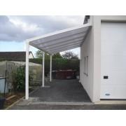 Carport Alu 6x3 toit polycarbonate