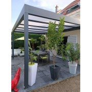 Pergola adossée toit plat 5.2x4