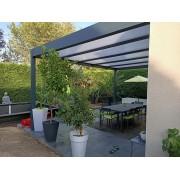 Pergola toit plat polycarbonate 5.2x4