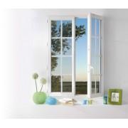 Fenêtre pvc 2 vantaux avec petits bois intégré blanc