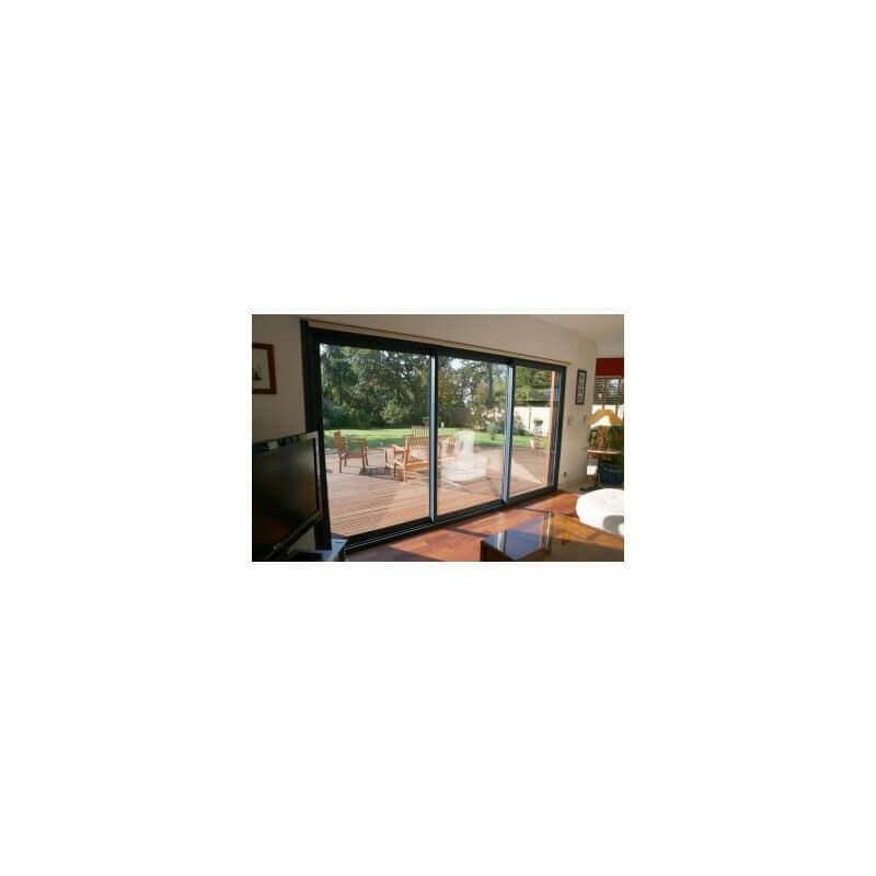 baie coulissante 3 vantaux pas cher sur mesure prix direct. Black Bedroom Furniture Sets. Home Design Ideas