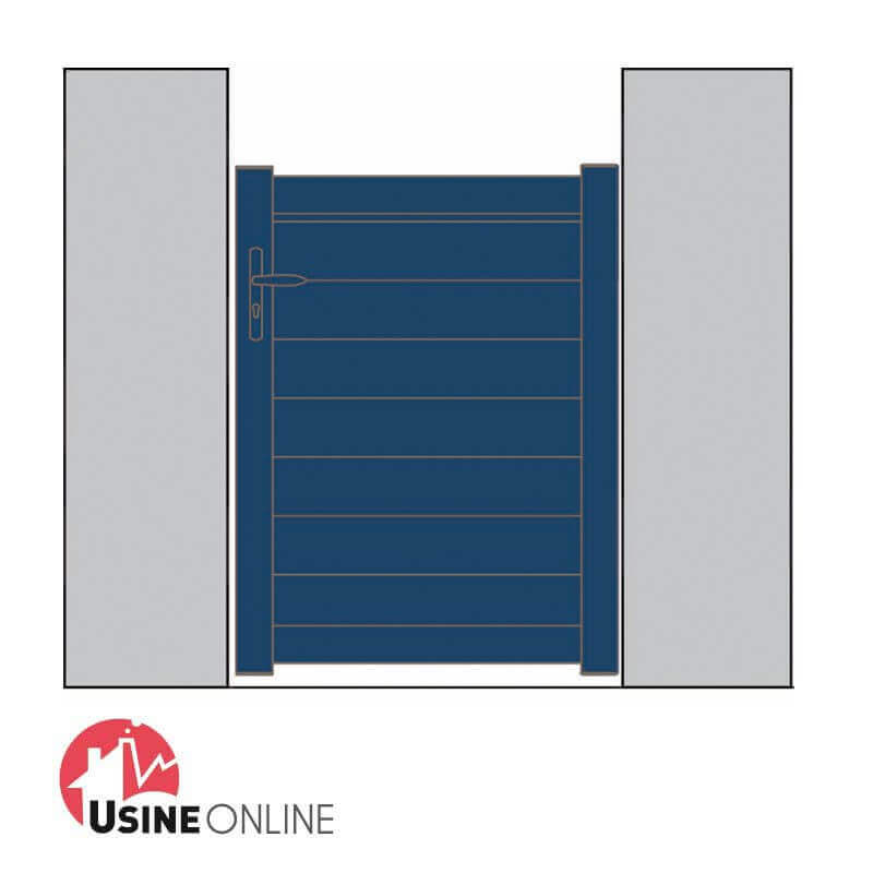 Portillon pvc pas cher for Portillon en pvc pas cher
