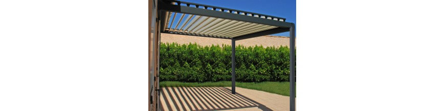 pergola bioclimatique pergola bioclimatique lames orientables en kit usine online. Black Bedroom Furniture Sets. Home Design Ideas
