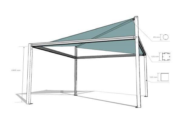 pergola voile ombrage enroulable pas cher pergola autoport e en kit. Black Bedroom Furniture Sets. Home Design Ideas
