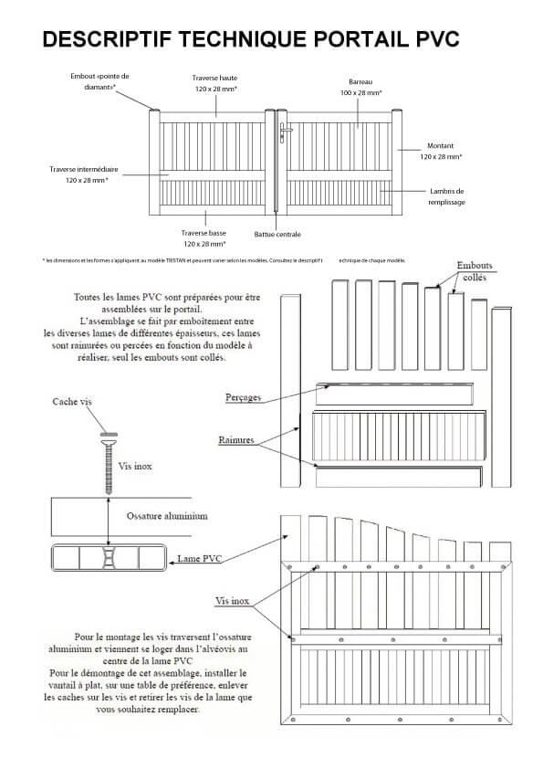 n 1 vente en ligne portail pvc p n lope c sur mesure direct usine. Black Bedroom Furniture Sets. Home Design Ideas
