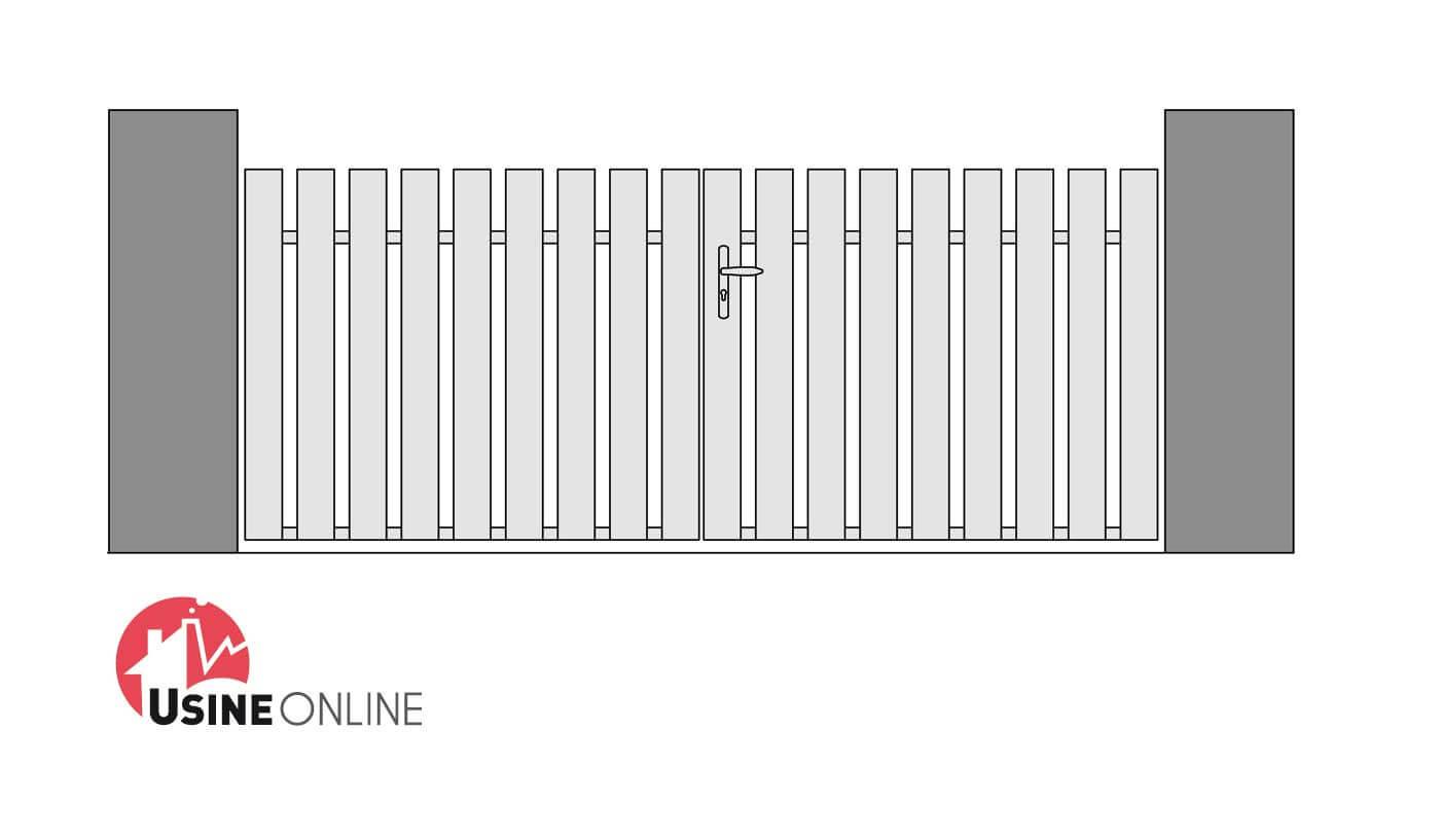 N 1 vente en ligne portail pvc princess b sur mesure for Portail pvc gris anthracite pas cher